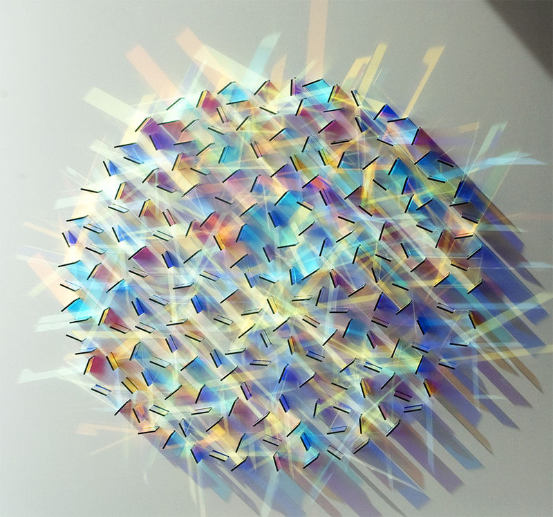 Geometric Dichroic Glass Installations
