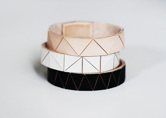 Leather Origami Accessories Geometric Jewelry