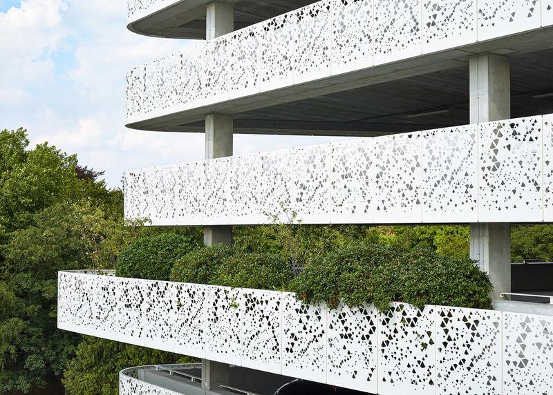 Perforated Metal Car Parks