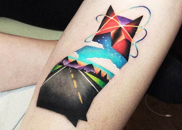 Vibrant Geometric Tattoos