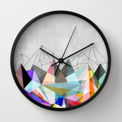 Triangle Focused Timepieces Geometric Wall Clock