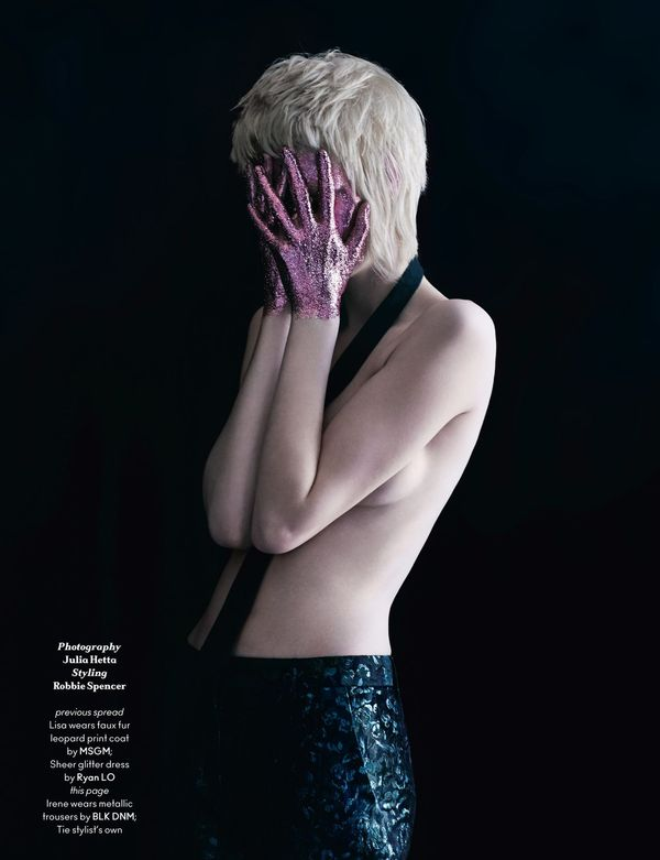 Dark Glitter-Dipped Editorials