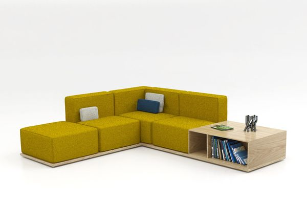 Cubby-Integrated Couches