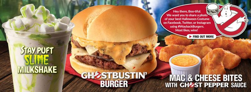 Ghoulish Burger Menus