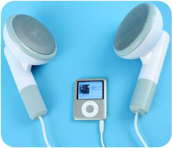 Giant iPod Headphone Speakers