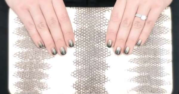 Layered Metallic Nail Art