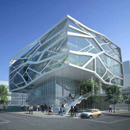 Cracked glassitecture the south korea gimpo art hall by for Contemporary architecture design concept