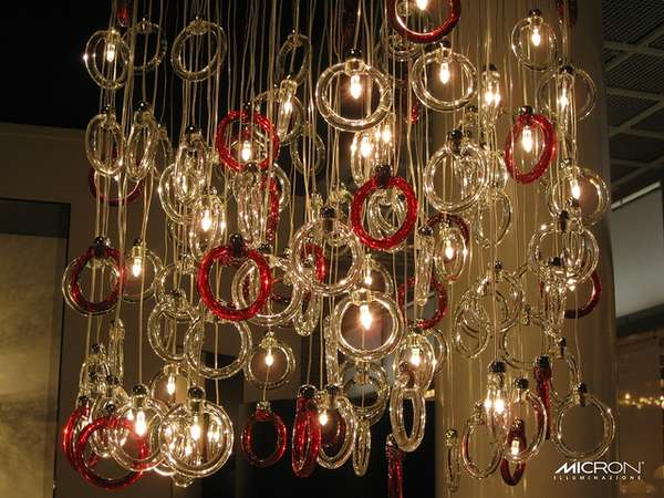 Glass Ring Chandeliers