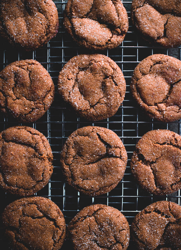 Smoky Ginger Molasses Cookies