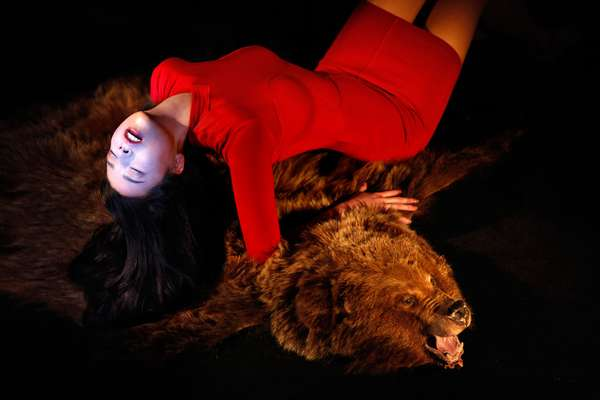 Girl on Bear Rug