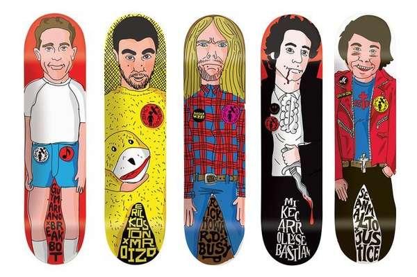 Famous DJ Skateboard Art