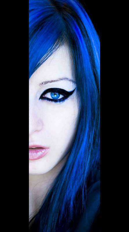 Bright Indigo Hairdos
