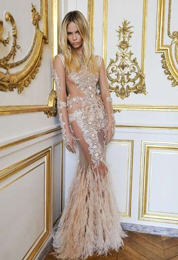 Sheer Gem-Encrusted Gowns