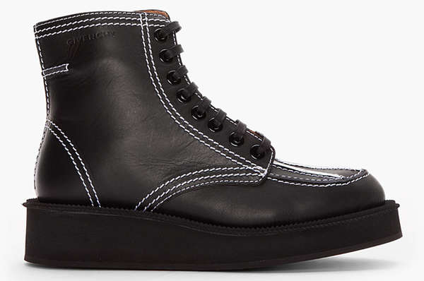 givenchy vegetable tanned leather boots