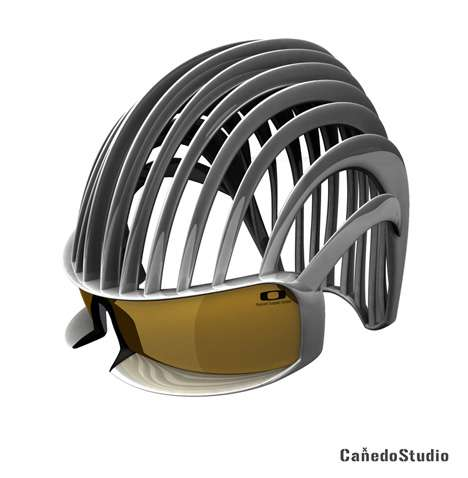 Ribbed Motorcycle Helmets