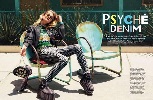 Glamour France 'Psyche Denim'