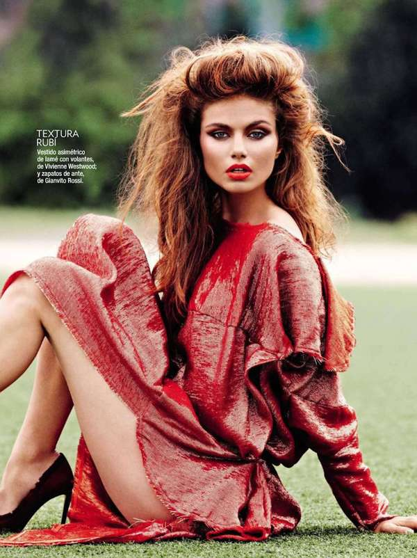 Glamour Spain 'La Linea Roja' Editorial