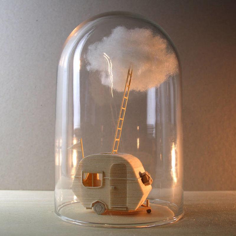 Whimsical Glass Bell Narratives