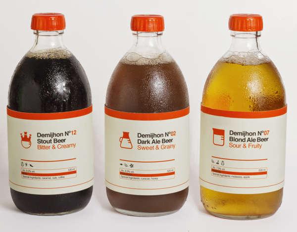 Lab-Inspired Beer Branding