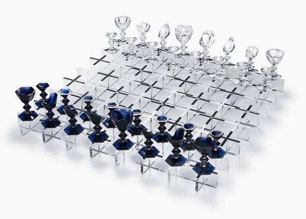 Luxurious Glass Chess Sets