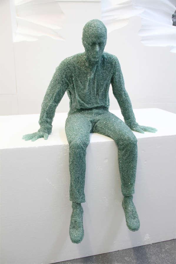 Shattered Glass Sculptures