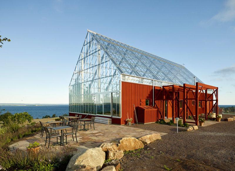 Glass Greenhouse Barns