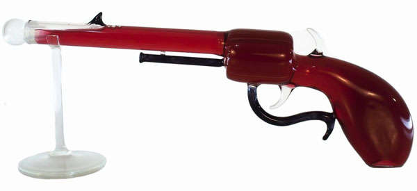 Glass Hand Gun Bottle