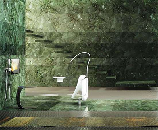 Glass Idromassaggio allos bathtub