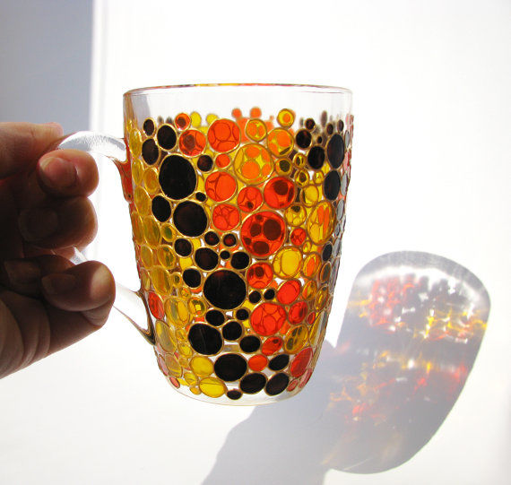 Prismatic Stained Glass Mugs