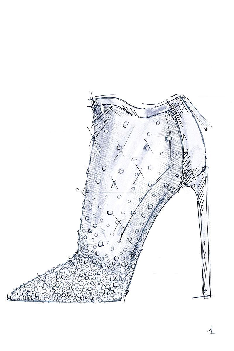 Designer Glass Slippers