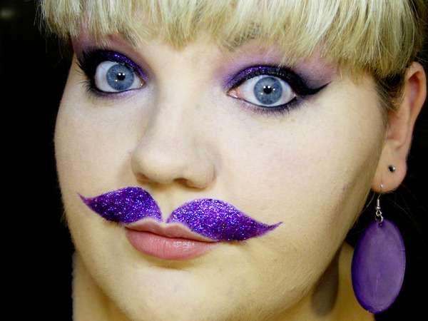 Feminine Facial Hair Tattoos
