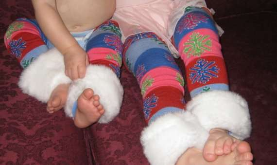 Glitter Snowflakes Toddler Thigh Highs