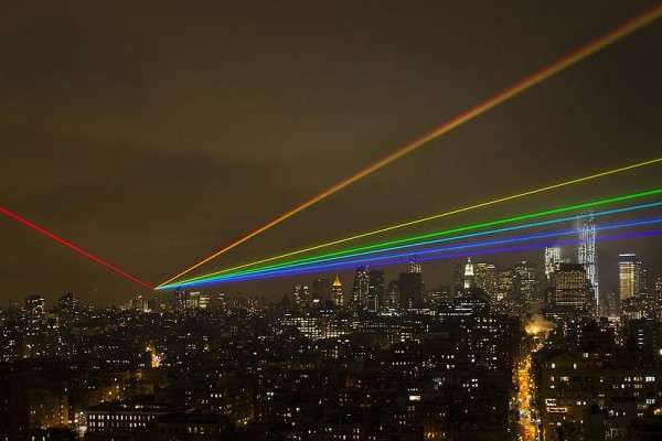 Rainbow Laser Beam Artwork