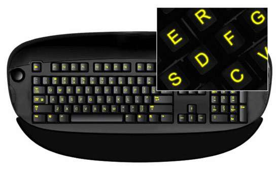 Glow-in-the-Dark Keyboards