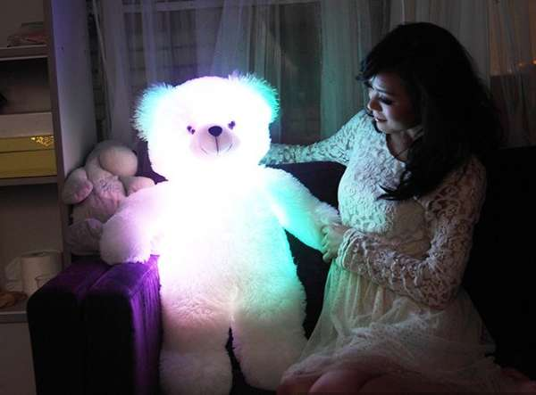 Rainbow Light-Up Teddies