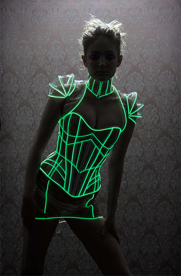 Futuristically Illuminated Undergarments