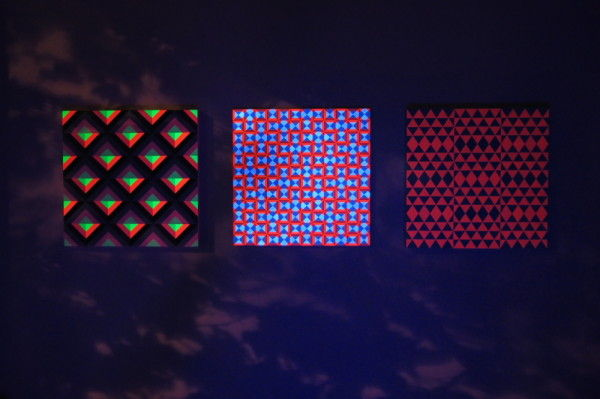 Glow-in-the-Dark Geometric Paintings