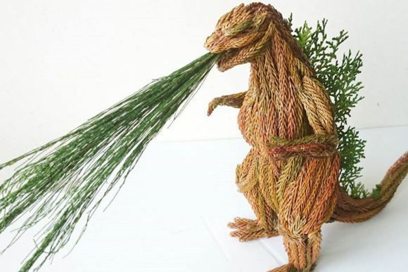 Leafy Monster Sculptures