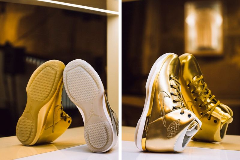 Celebratory All-Gold Sneakers