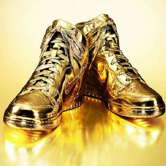 glamorously golden sneakers gold dipped shoes. Black Bedroom Furniture Sets. Home Design Ideas