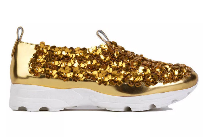 Gilded Botanical Sneakers
