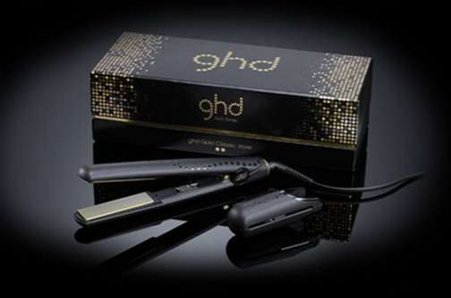 gold plated ghd midnight hair straightener