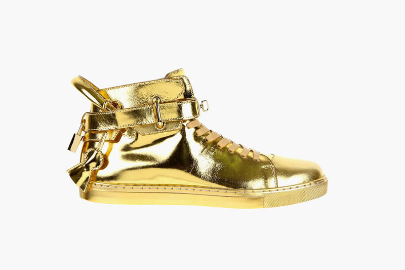 Flashy Gold Sneakers