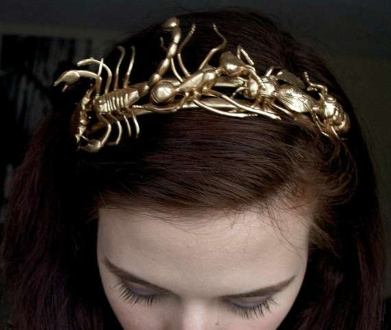Golden Insect Tiara