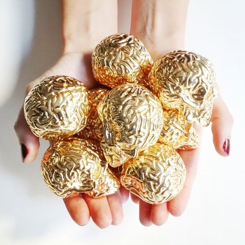 Gilded Golden Skulls