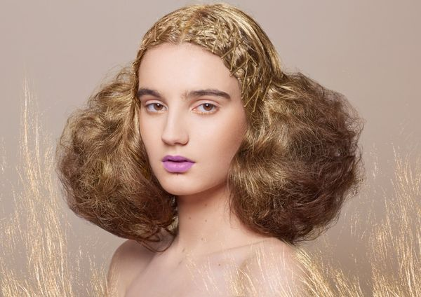 Ethereal Gilded Hair Captures