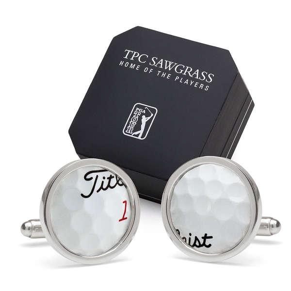 Upcycled Golf Ball Cufflinks