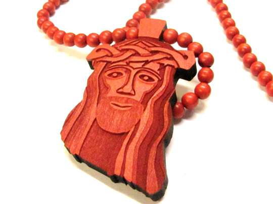Good Wood Red Jesus Piece