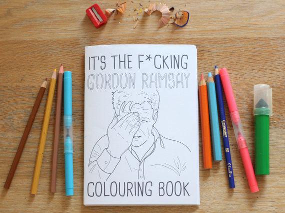 Celebrity Chef Coloring Books