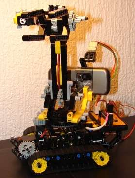 Robot out of Recycled Cell Phones